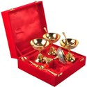 Gold Coated Ice Cream Set