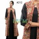 Gown Dress With Kalamkari Jacket