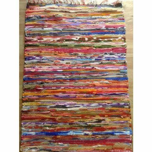 Multicolor Handmade Chindi Rag Rugs Rs