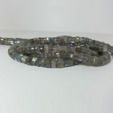 Natural Labradorite Plain Smooth Heishi Tyre Beads