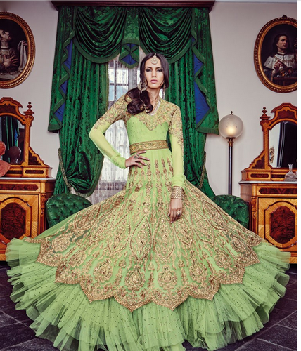be7741d19e Pista Green Color Designer Anarkali Salwar Suit, Rs 6999 /piece | ID ...