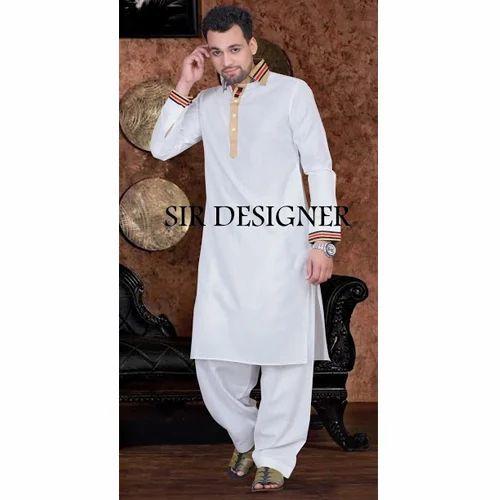 b283ce1eafa Cotton Plain Pathani Kurta Pyjama