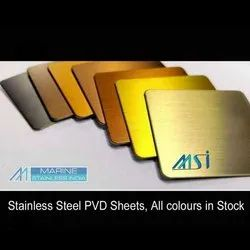 Stainless Steel Pvd Coated Antique Hairline Finish Sheet