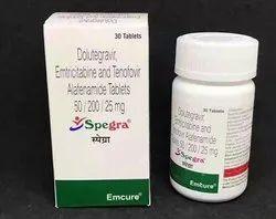 Spegra Tablets Dolutegravir (50mg) Emtricitabine (200mg) Tenofovir Alafenamide (25mg)