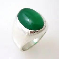 Green Onyx Silver Ring Gemstone