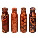 Printed Copper Water Bottle (Milk Bottle Shape)