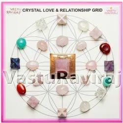 Pink Rose Stone Square VastuRaviraj Crystal Love Relationship Grid, For Healing
