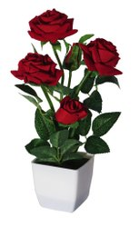 Artificial Red Roses Bonsai Flowers with Pot(30cm)