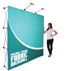Fabric Exhibition Stand Mixer : Step and repeat la fabric stretch display youtube