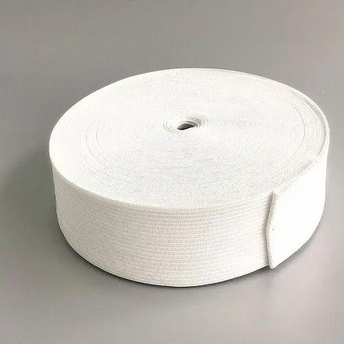White Knitted Elastic Tape