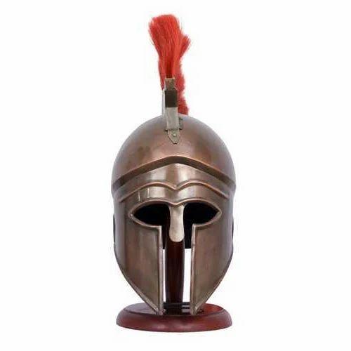Brass Spartan Helmet