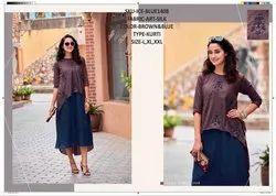 Rachna Art Silk Pattern Cut Work Catalog Kurti For Women 8