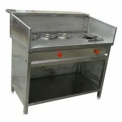 Stainless Steel Tea Counter With Burner