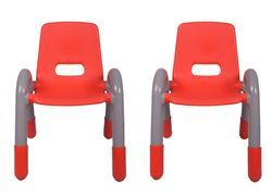 Red Pair Plastic Kids Chair ( The Volver Engineering) (VJ-0218 B)