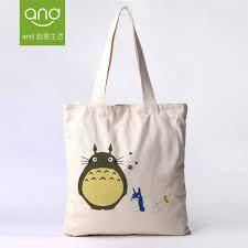 Cotton With Owl Print Tote Bag