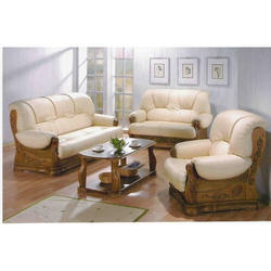 Brown 6 Seater Sofa Set, For Hotel