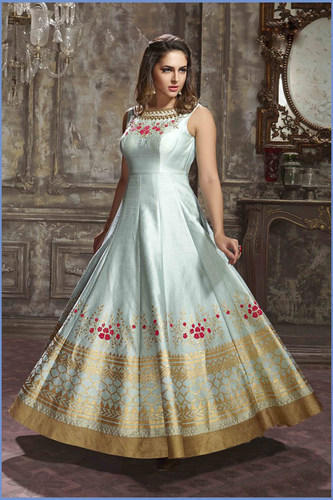 37ee145d48 Albela Banglori With Fancy Work Rich Looking Full Party Wear Gown ...
