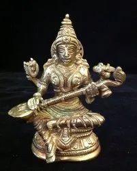 Brass saraswati