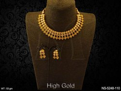 Golden Designer Necklace Set