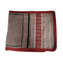 Ladies Cotton Hand Block Printed Casual Saree