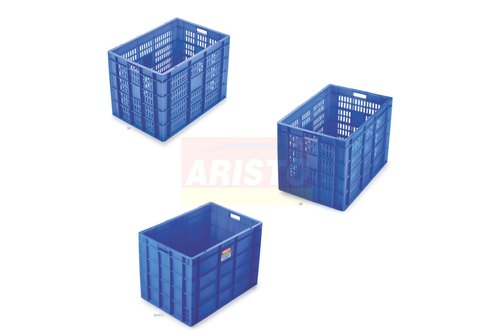 Rectangular Blue Maha Jumbo Aristo Crate 116 Litre - 650(L) x 450(W) x 485(H)mm for Industrial