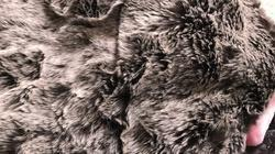 Plain Discharge Faux Fur, Application:Bags And Home Furnishing