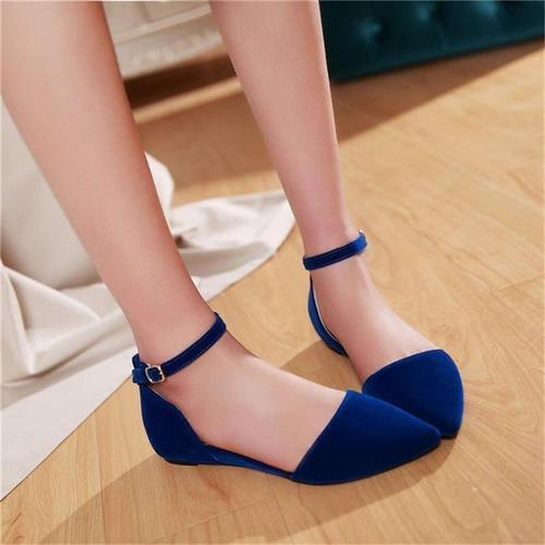 UVS Party Wear Ladies Blue Ankle Strap