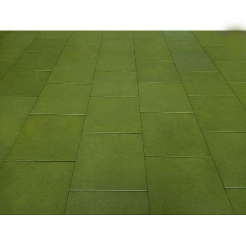 Green Plain Outdoor Rubber Tile Rs 90