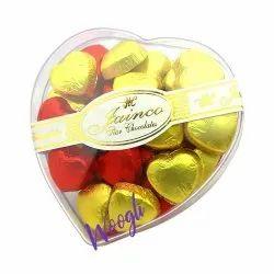 Heart Shape Decorative Chocolate  Gift PVC Crystal Box