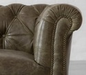 Vintage Three Seater Sofa in Genuine Leather,Leather Couches