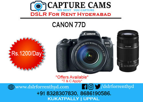 Canon 77D For Rent in Bjp Office Road, Kukatpalle | ID: 18699785248