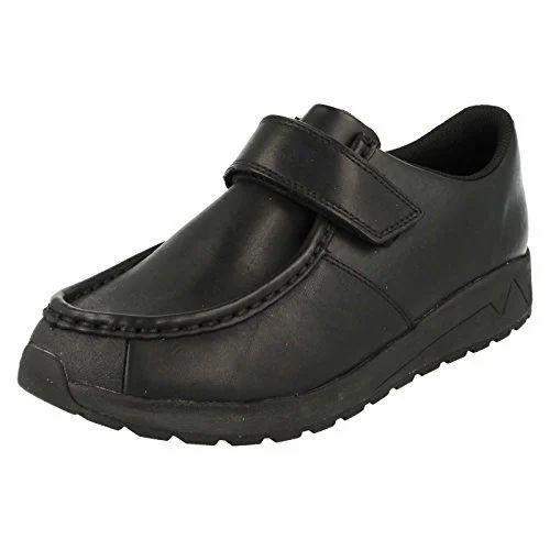 Slyder Boys Velcro School Shoes, Size