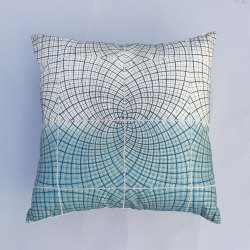Ryon Silk Cushion Cover Ombre Print & Geomatric Embroidery Silk Hippie Cushion Cover