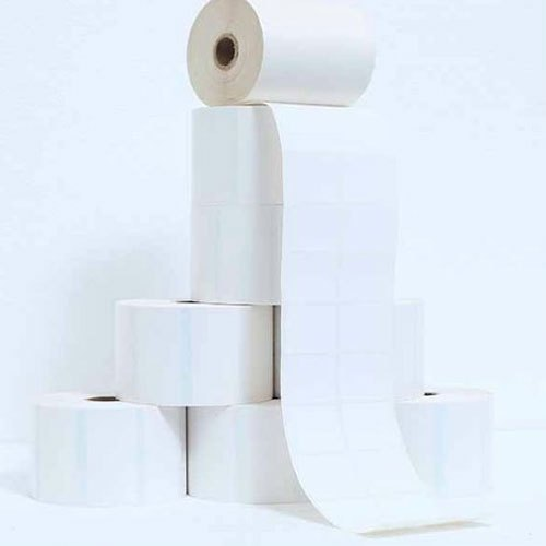 Polyester White Plain Barcode Labels, GSM: 100-150, Packaging Type: Roll