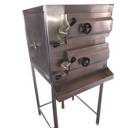 Stainless Steel Commercial Food Warmer 120 Idli Steamer, For Hotel, Size/Dimension: Standard