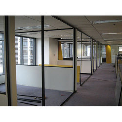 6 Feet Office Glass Partitions