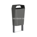 Chevron Inc Clato Stainless Steel Dustbins