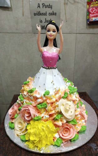 Stupendous Barbie Doll Birthday Cake At Rs 1000 Kilogram Funny Birthday Cards Online Alyptdamsfinfo