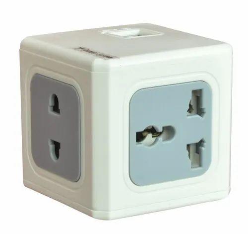 3 ports USB Top qualité statut multimédia 3 voies Cube Socket