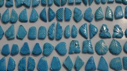 Turquoise Stones Carved Pairs, Carving Fancy Shape Loose Gemstone