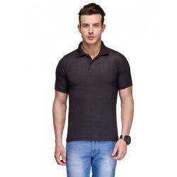 Black Polo Neck T Shirt