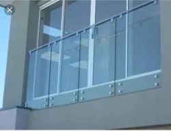 Ss Railing with glass 12mm