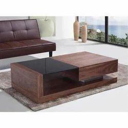 Wooden Rectangular Modular Center Table, Size: 4 X 2 Feet