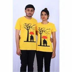 Cotton Casual Wear Casual Couple T-Shirt