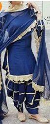 Royalblue Dupin Silksuit With Gotta Bottom