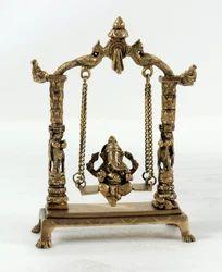 Capstona Ganesh Jhula Brass Idol