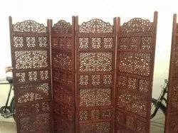 Khusubhartpalace Brown Wooden Partition Screen, Size: Length 80 x height 72 inch