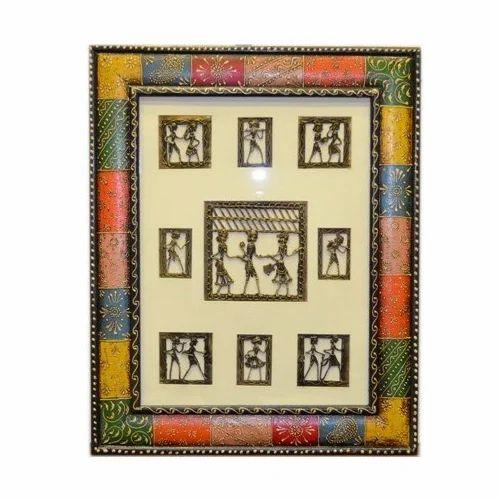 Dhokra Painting Decorative Wall Hanging, Decorative Frames - Pushpam ...