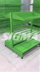 Metal Vegetable Center Racks, For Supermarket
