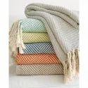 Cotton Herringbone Weave Bed Throws